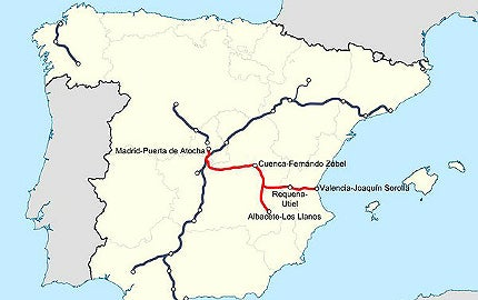 Map Of Spain Train Routes.Madrid Levante High Speed Railway Line Spain Railway Technology