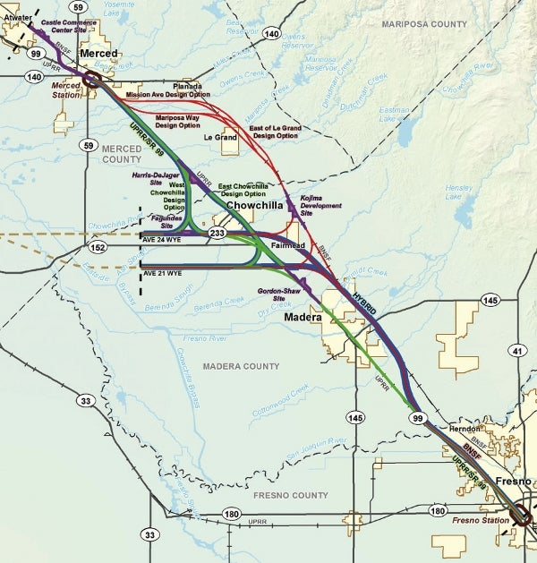 California High-Speed Rail's Merced and Fresno section