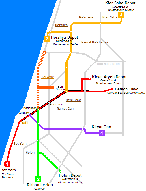 Tel Aviv light rail project