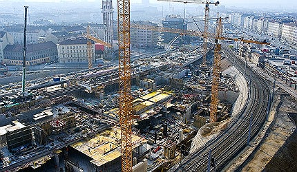 Construction of the Vienna Central Station is expected to be fully completed by 2015