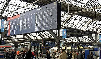 Zurich Hauptbahnhof (HB) is Europe's busiest railway terminus by daily rail traffic