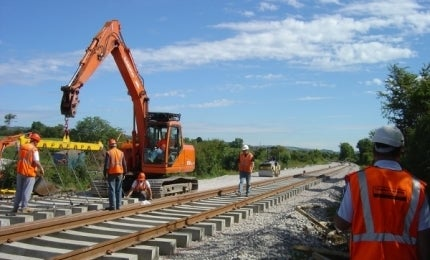 Work on the Coleraine-Londonderry line