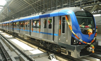 Alstom is supplying 20 Metropolis train sets for the Lucknow Metro.