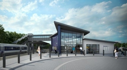 The new-look Bicester Town station