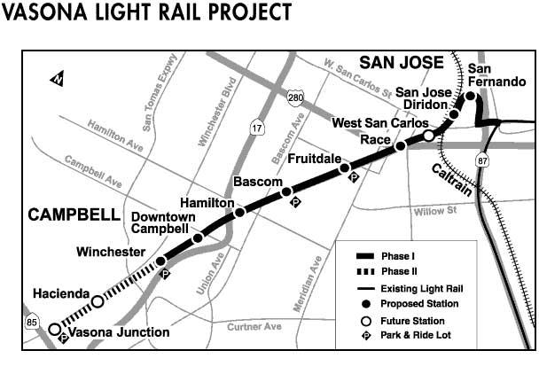 Vasona light rail project