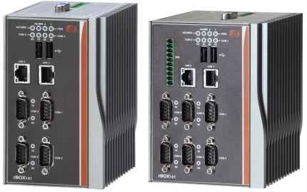 Axiomtek's DIN-rail 6 Isolated COM Fanless Ruggedized Embedded System for Power Utility – rBOX101
